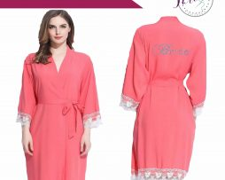 Coral Lace robe