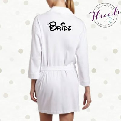 White Bridal Robe