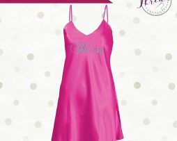 Personalised Bridal Satin Chemise