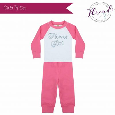 Girls Pink Wedding Pyjamas