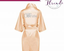 Gold satin dressing gown