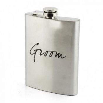groom hip flask wedding gift