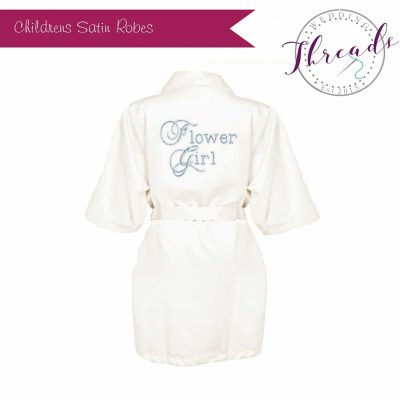 Childrens satin dressing gown