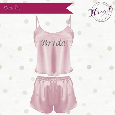 Light Pink satin pyjamas