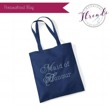 Navy Blue Tote Bag