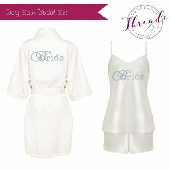 Personalised satin Dressing Gown