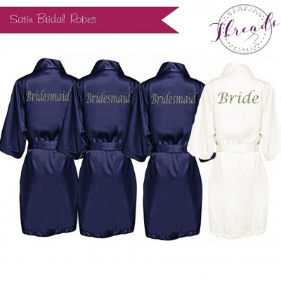 satin Bridal Party robes