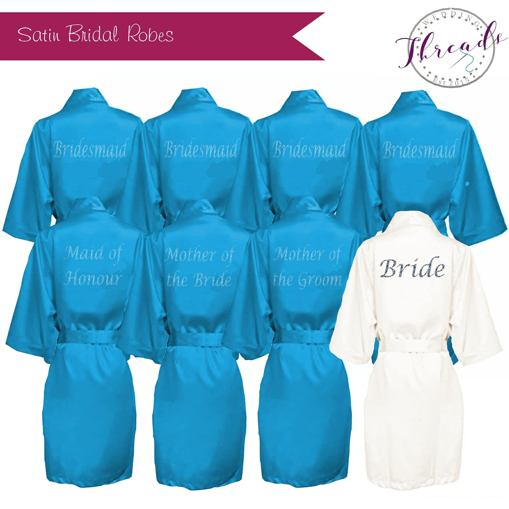 Turquoise satin dressing gown wedding satin dressing gowns 9f54eb088