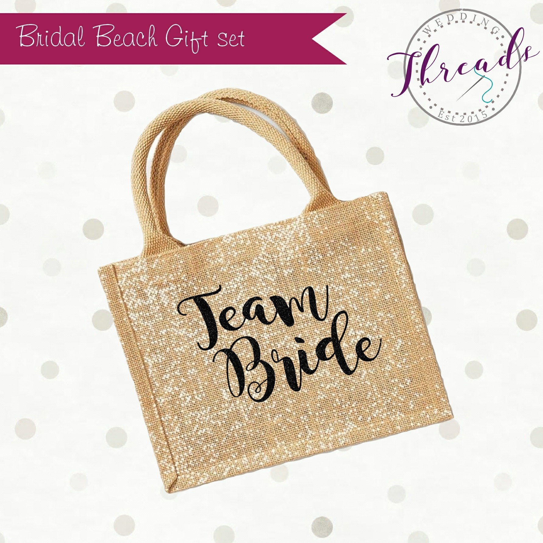 Team Bride personalised bag