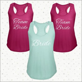 Team Bride wedding vests