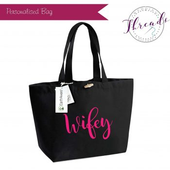 Wifey personalised tote bag