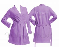 Childrens Lilac cotton robe