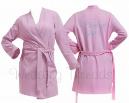 Childrens Light Pink cotton robe