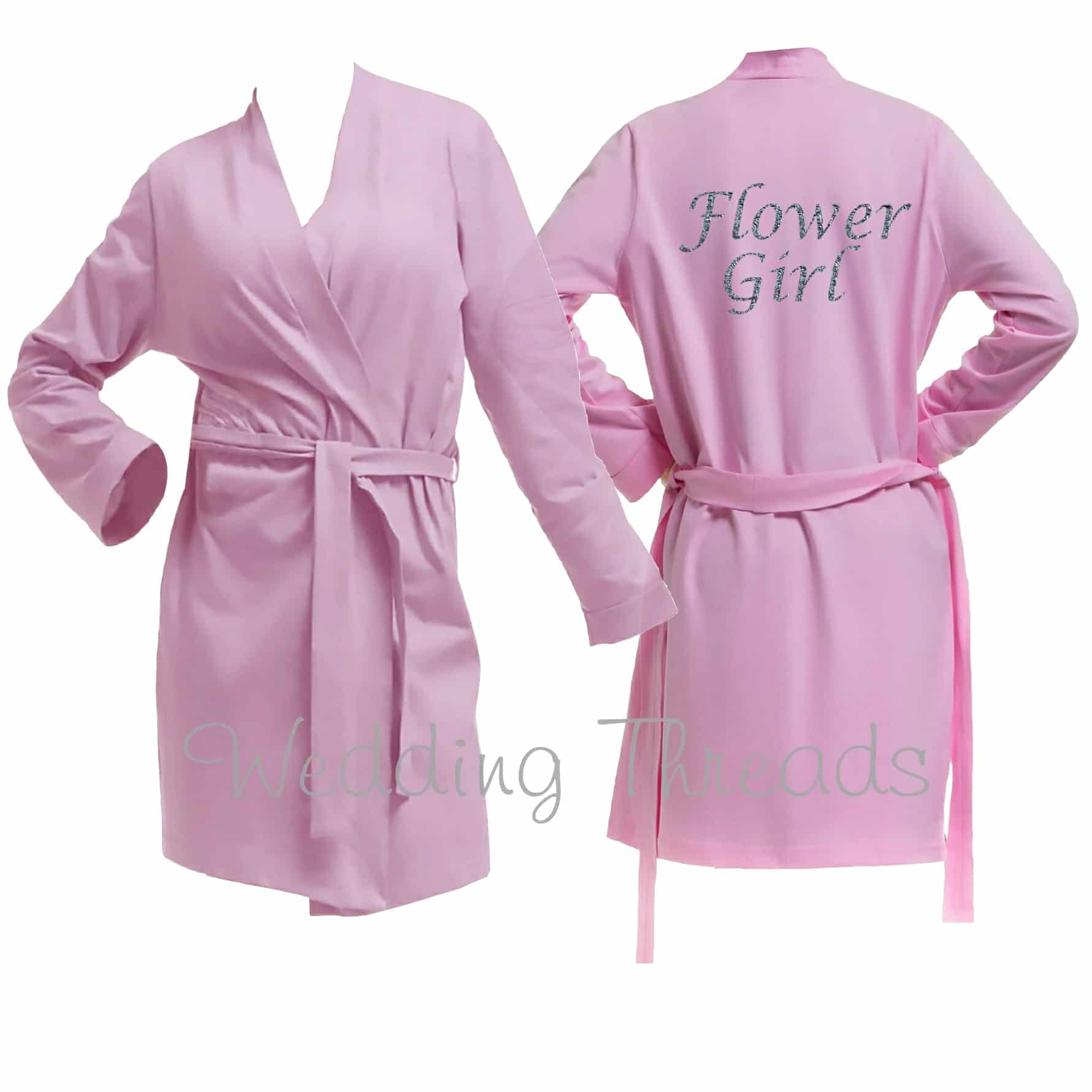 Childrens Pink cotton robe
