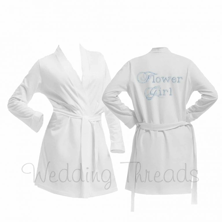 Childrens White cotton robe