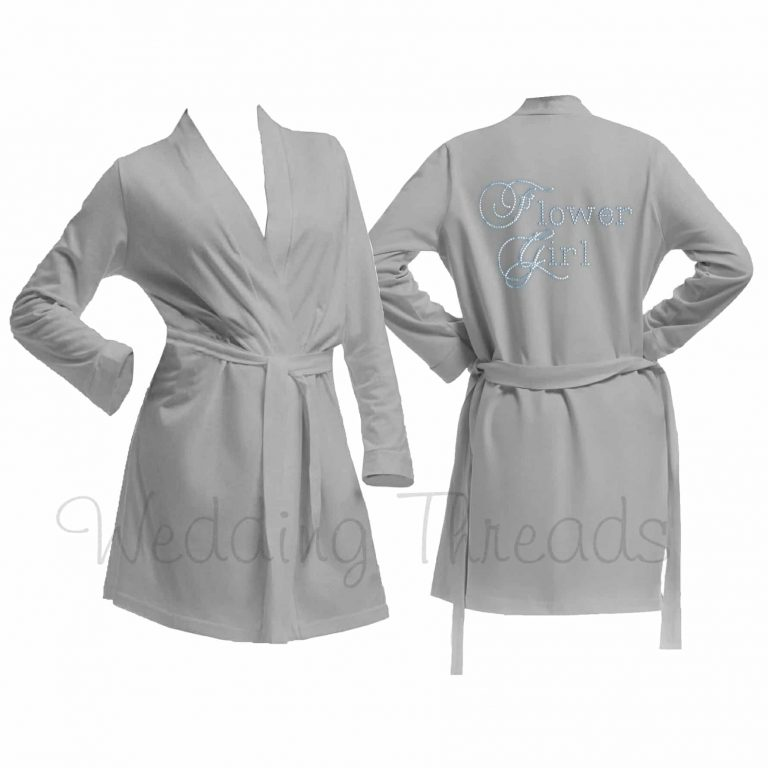 Childrens Grey cotton robe