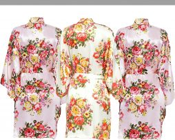 Light Pink floral robe Set
