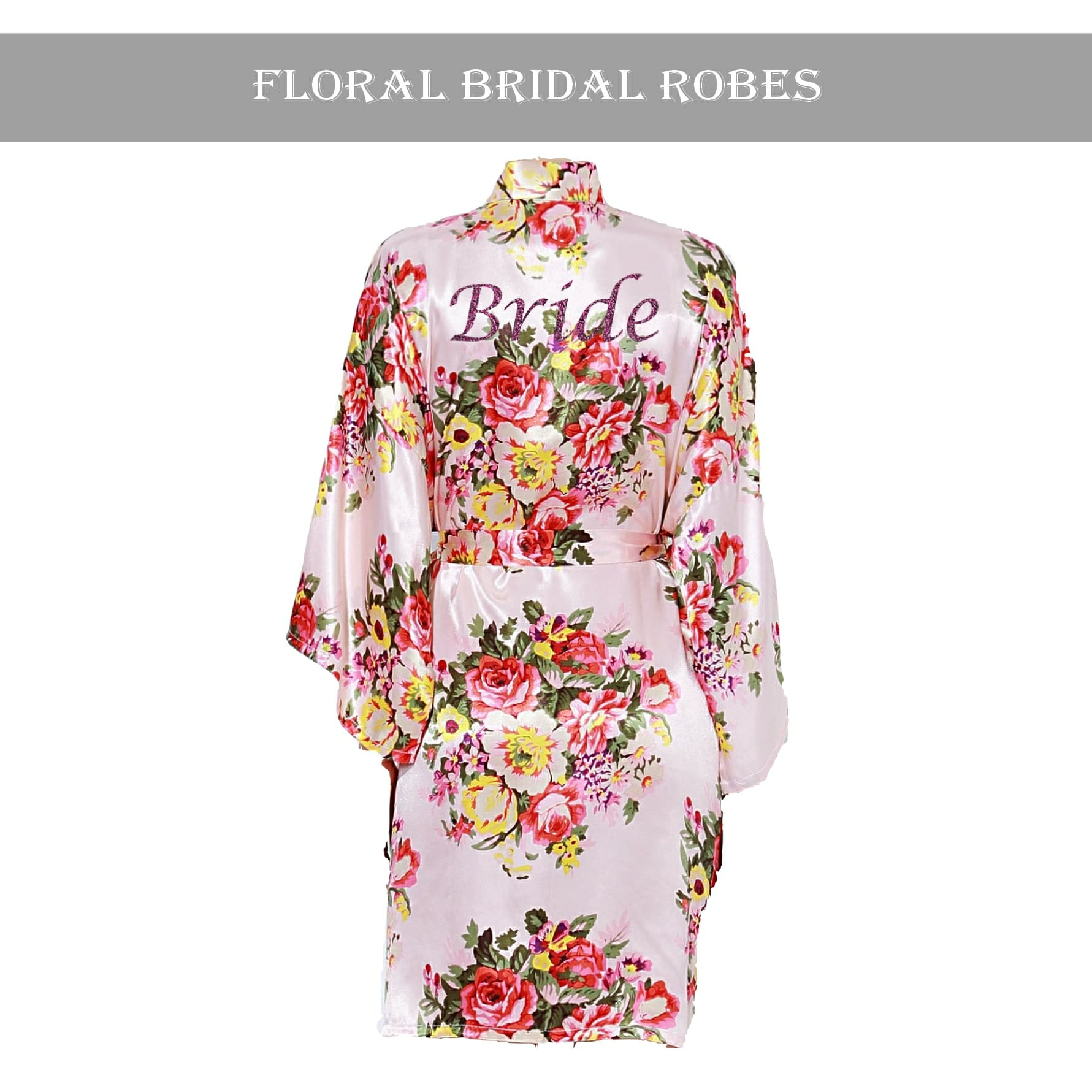 Light Pink floral robe