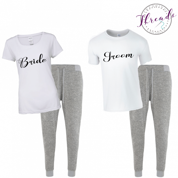 Bride and groom lounge set