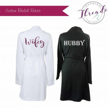 Hubby & Wifey cotton robes