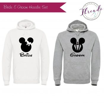 Personalised Bride & Groom sweatshirt Hoodies