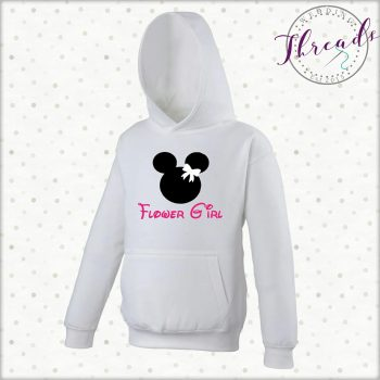 Personalised Flower Girl Hoodie