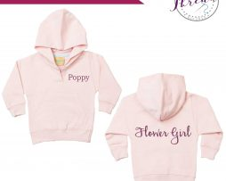 Toddler Flower Girl Hoodie