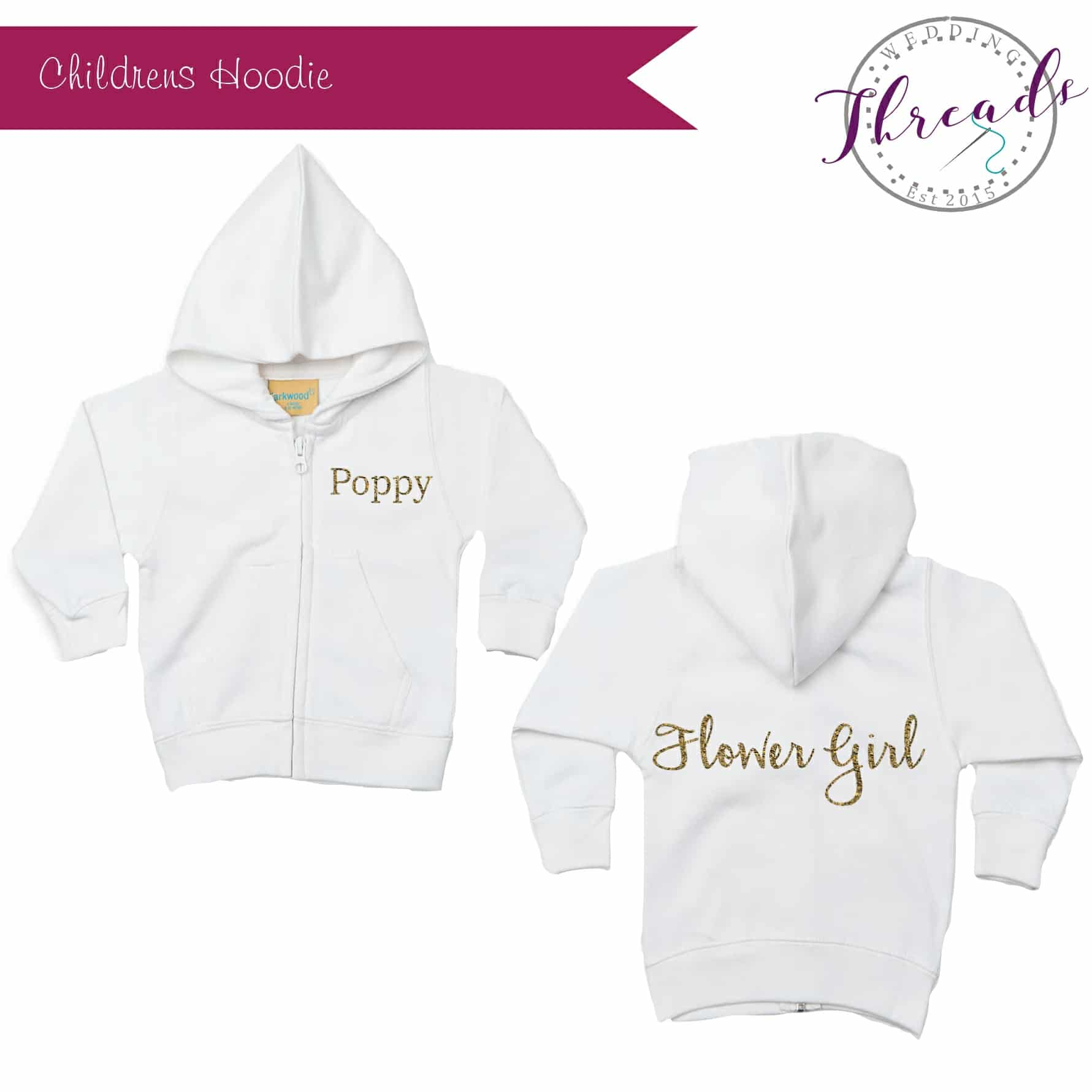 Flower Girl Zipped Hoodie