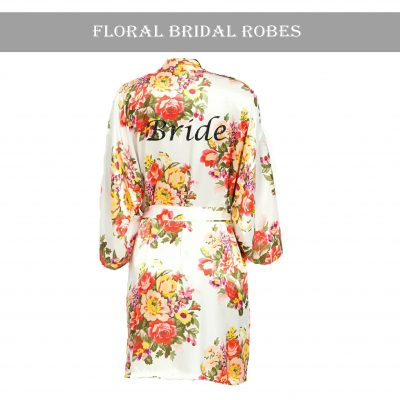 Ivory floral robe