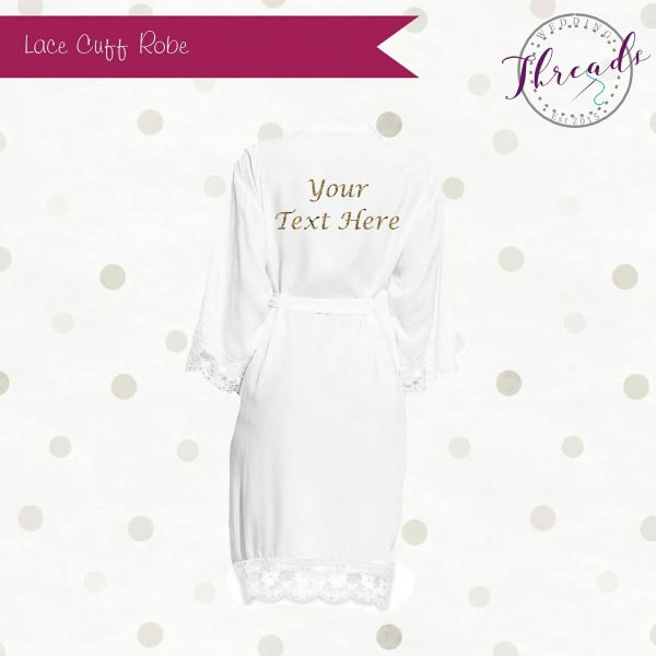 Personalised Lace cuff robe