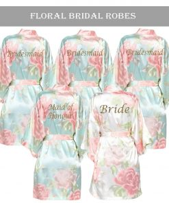Floral Satin Robe sets