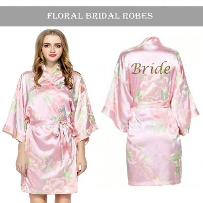 Vintage floral robe Light Pink