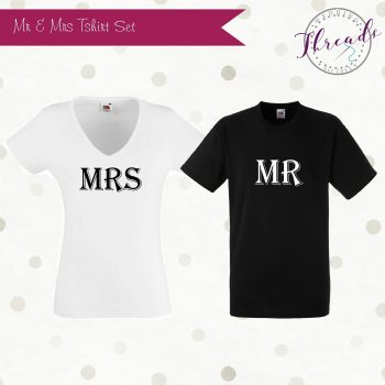 Mr & Mrs bridal tshirts