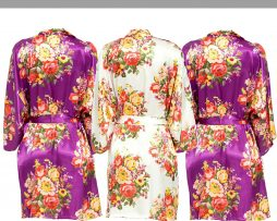 Purple floral robe Set