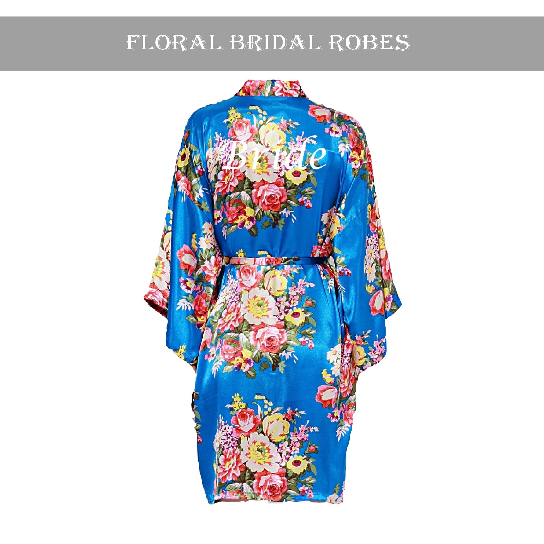 Royal Blue floral robe