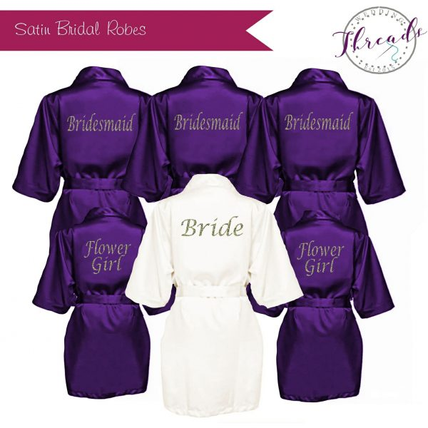Bridal satin party robe
