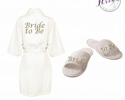Bride to Be satin robe