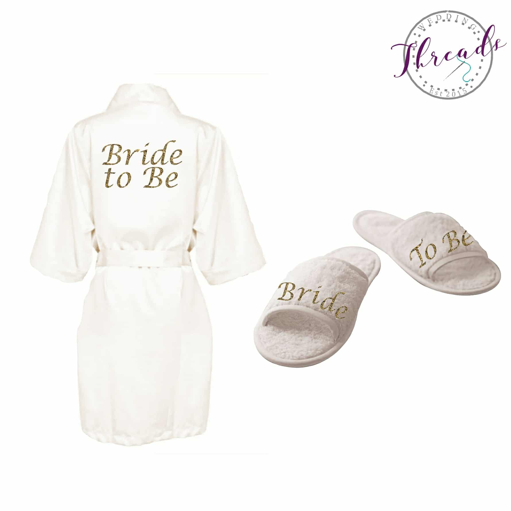 9ac1836f683 Bride to Be satin robe & slipper set