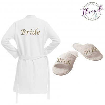 Bridal Robe & Slipper set