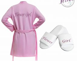 Childrens robe & slipper set