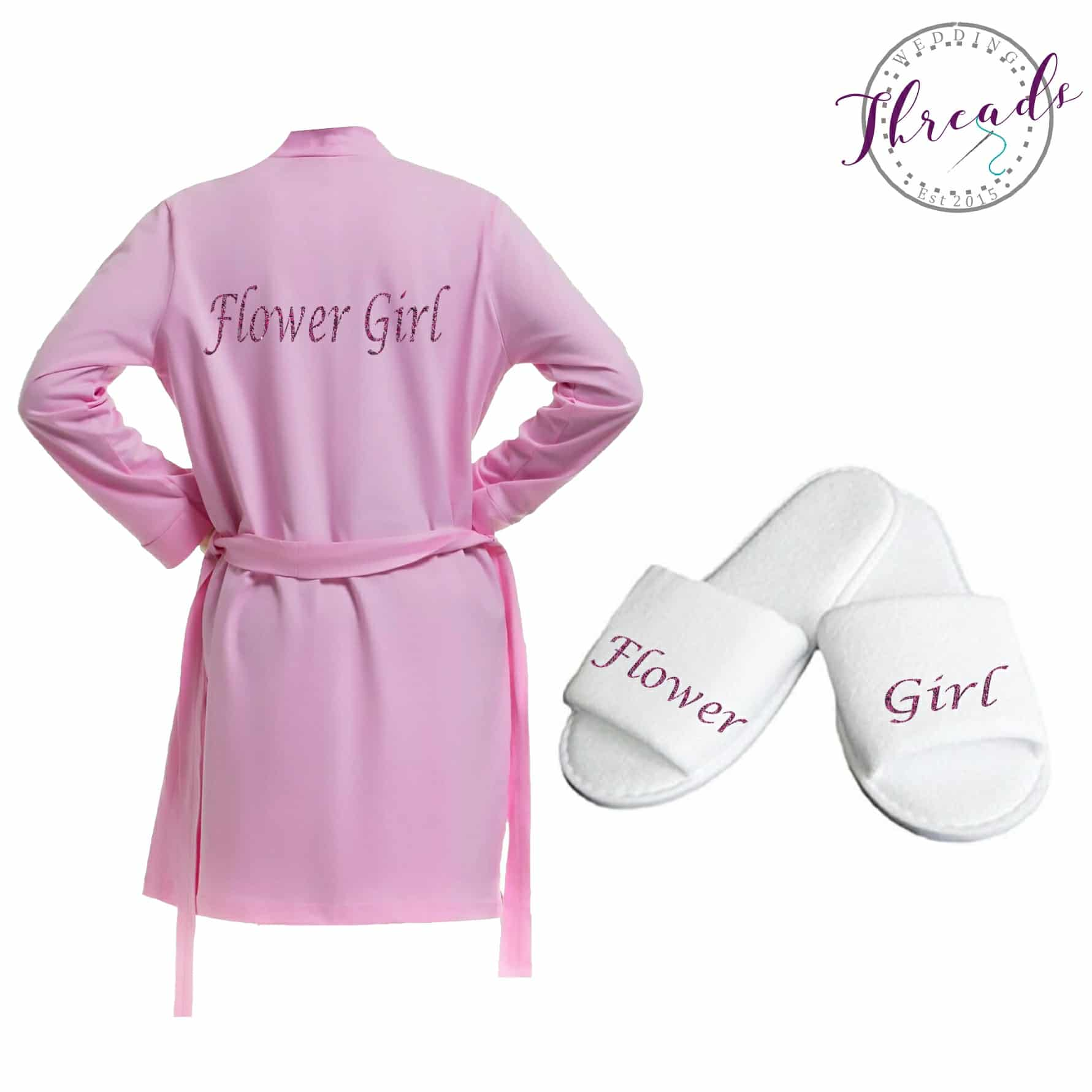 Childrens Wedding Gifts: Personalised Childrens Robe & Slipper Set