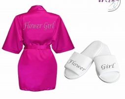 flower girl robe & slipper set