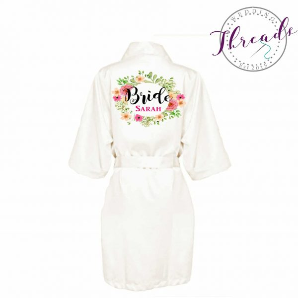 Bridal Party Satin Robe