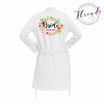 Cotton Bridal Dressing Gown