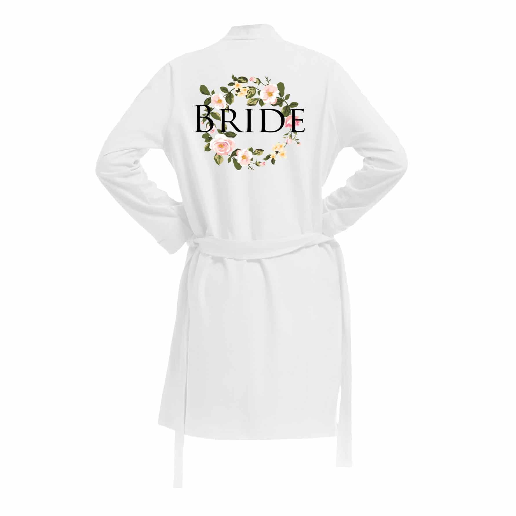 601e22fac78ca Cotton Bride Robe. Personalised Bridal dressing gowns -Wedding Threads