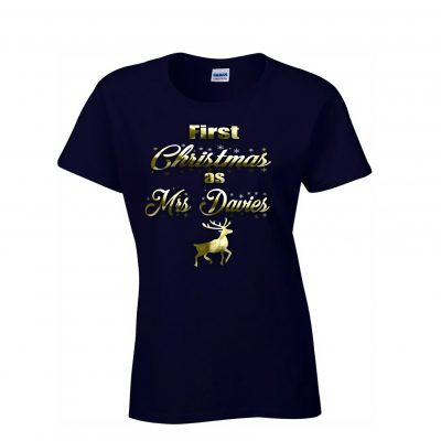 Personalised 1st Christmas T-Shirt