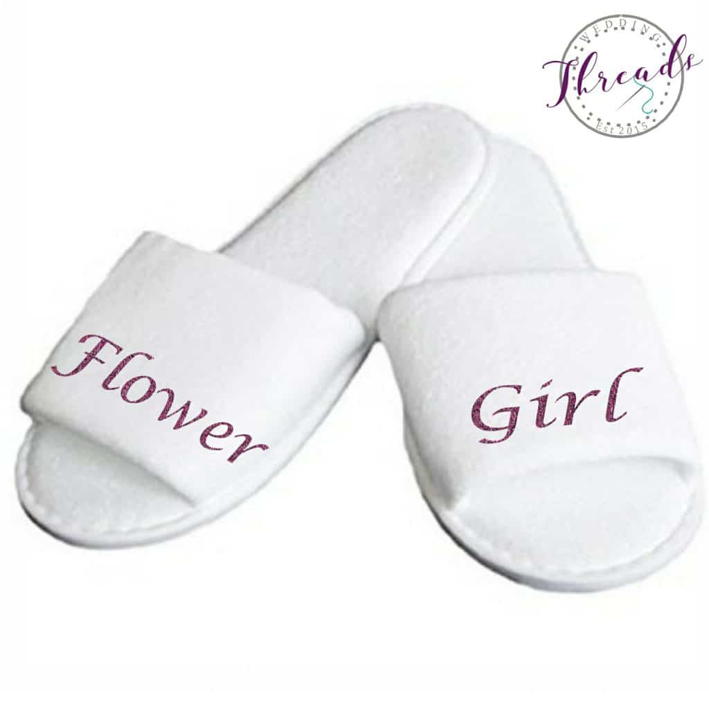 Flower Girl wedding slippers