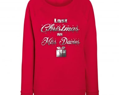 Personalised Christmas sweatshirt