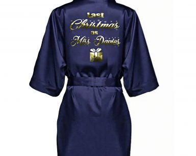 Christmas Satin Robe