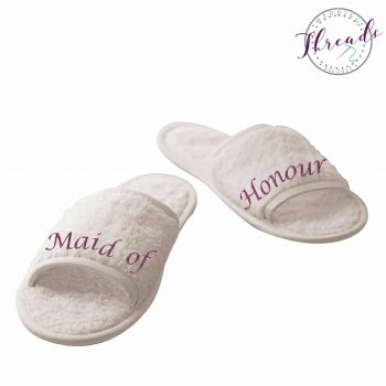 Maid of Honour wedding slippers